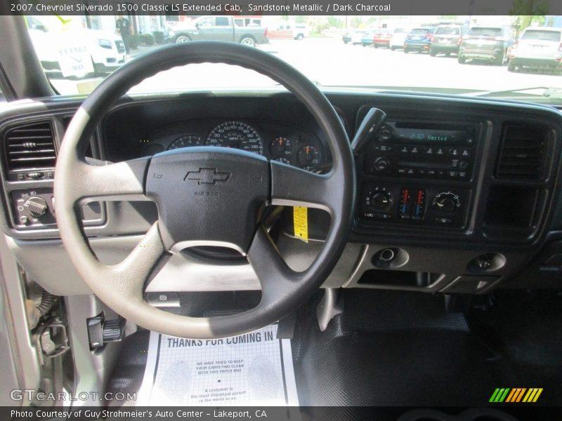 Sandstone Metallic / Dark Charcoal 2007 Chevrolet Silverado 1500 Classic LS Extended Cab