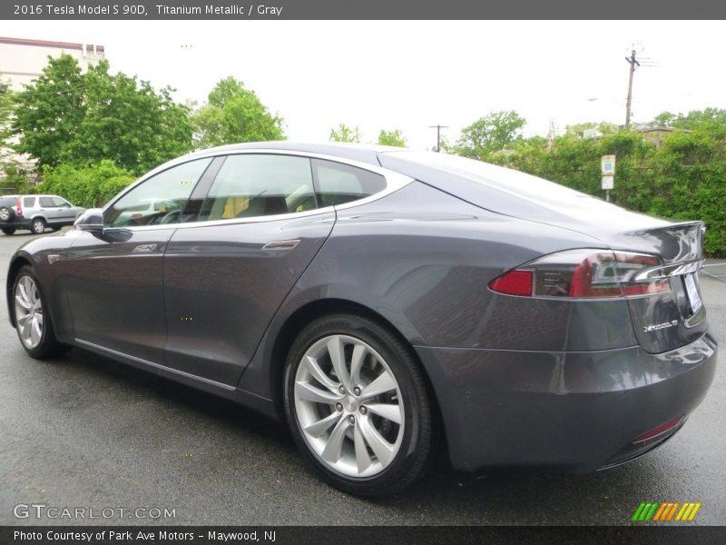 Titanium Metallic / Gray 2016 Tesla Model S 90D