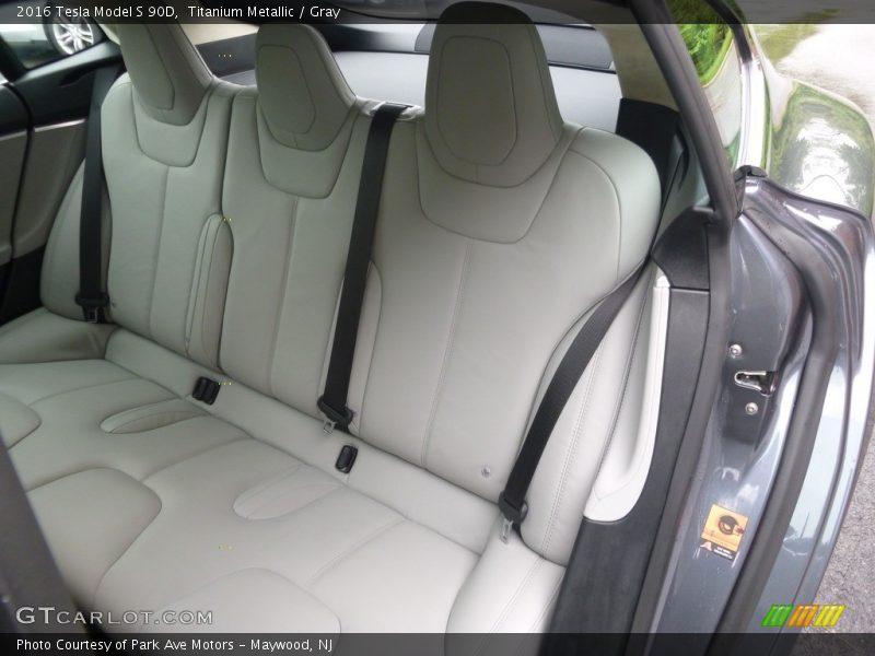 Rear Seat of 2016 Model S 90D