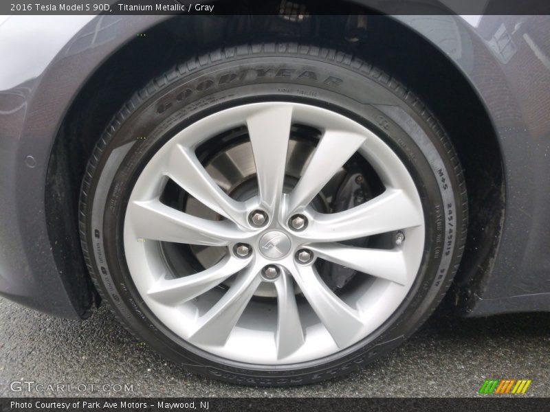 2016 Model S 90D Wheel