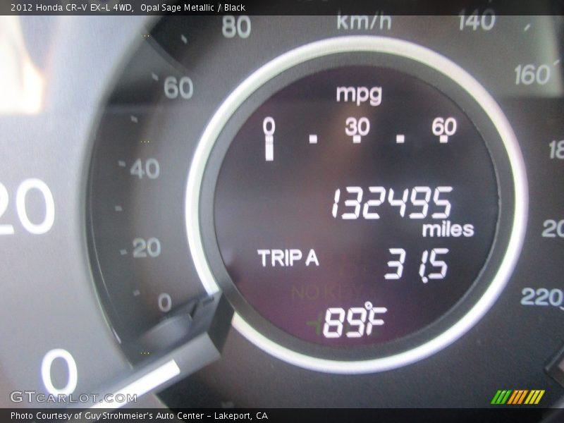 Opal Sage Metallic / Black 2012 Honda CR-V EX-L 4WD