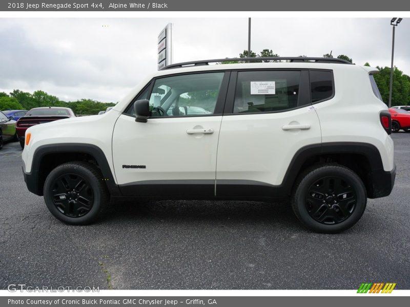 Alpine White / Black 2018 Jeep Renegade Sport 4x4
