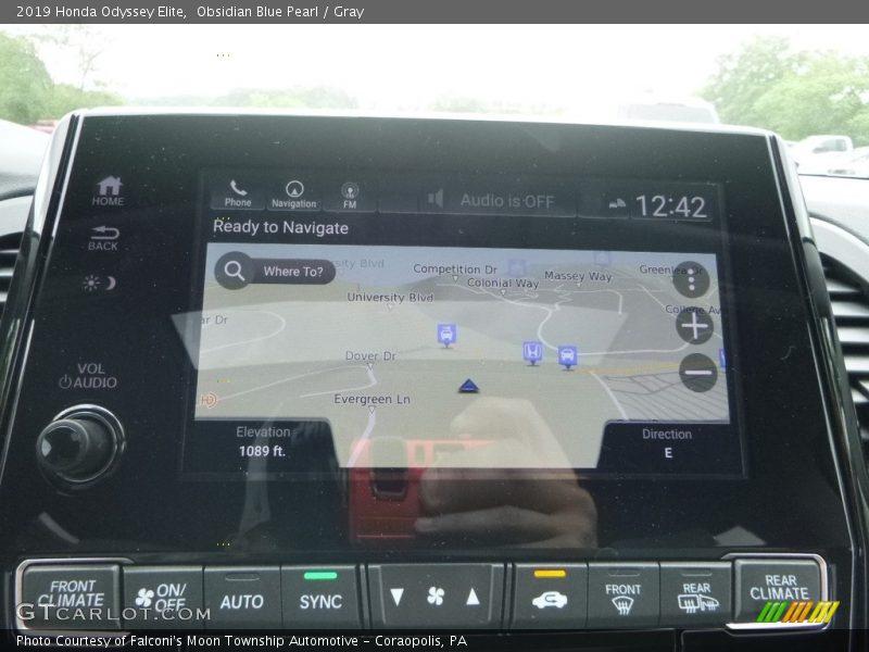 Navigation of 2019 Odyssey Elite
