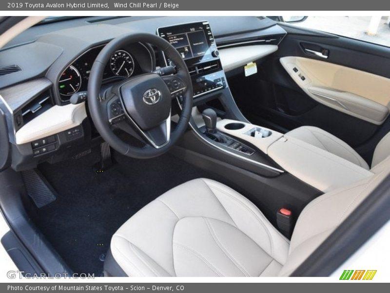 2019 Avalon Hybrid Limited Beige Interior