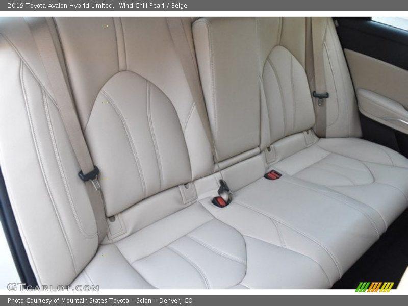 Rear Seat of 2019 Avalon Hybrid Limited