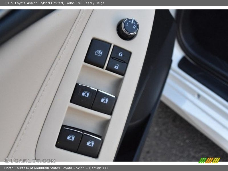 Controls of 2019 Avalon Hybrid Limited