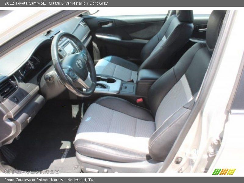 Classic Silver Metallic / Light Gray 2012 Toyota Camry SE