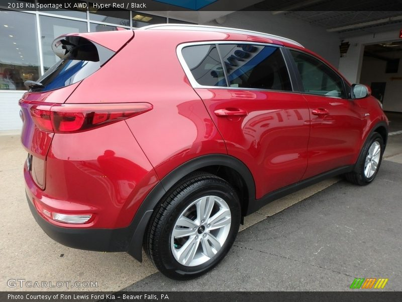 Hyper Red / Black 2018 Kia Sportage LX AWD