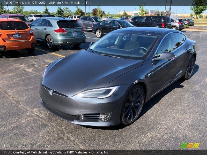 2016 Model S P100D Midnight Silver Metallic