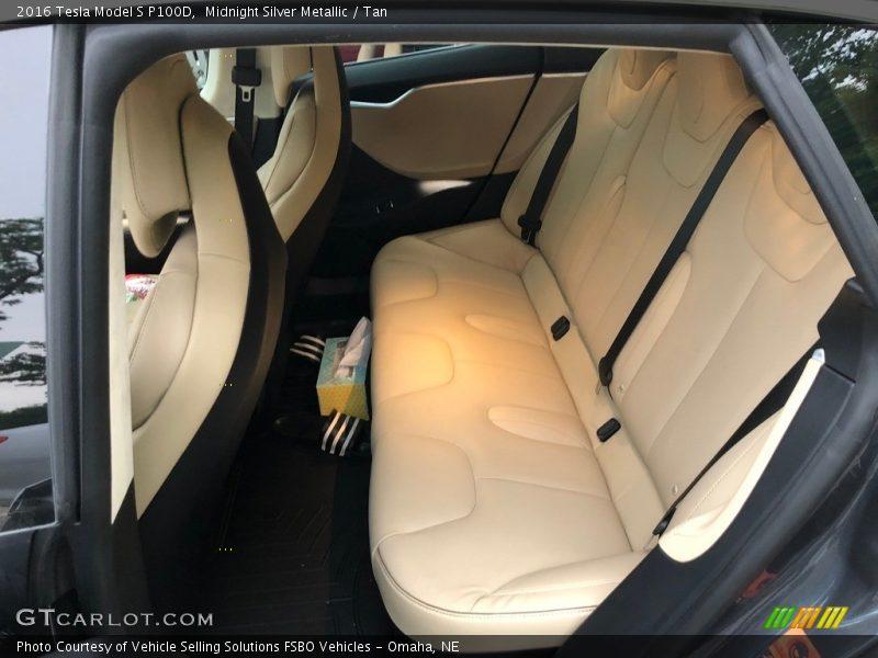 Rear Seat of 2016 Model S P100D