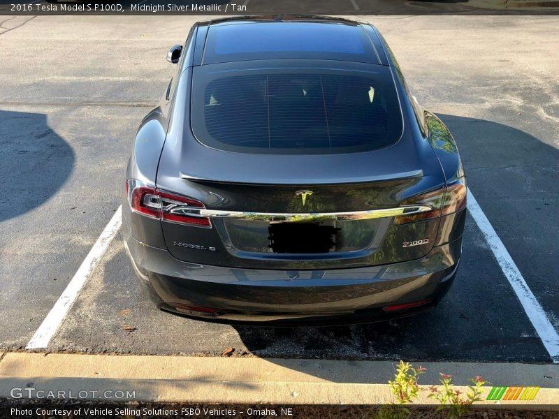 Midnight Silver Metallic / Tan 2016 Tesla Model S P100D