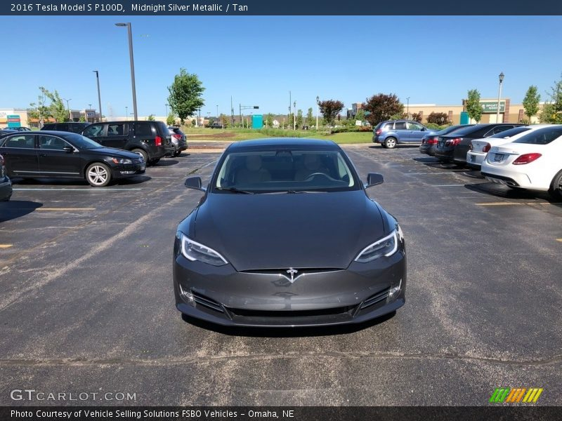 Midnight Silver Metallic / Tan 2016 Tesla Model S P100D