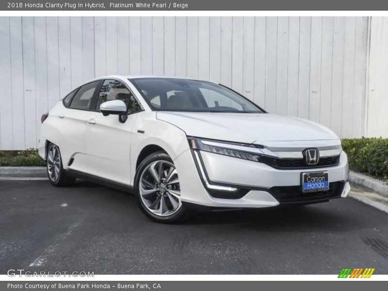 Platinum White Pearl / Beige 2018 Honda Clarity Plug In Hybrid