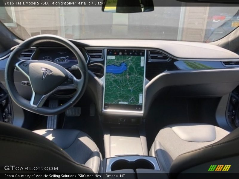 Dashboard of 2016 Model S 75D