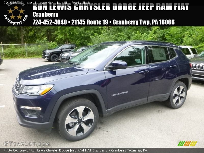 Jazz Blue Pearl / Black 2018 Jeep Compass Latitude 4x4