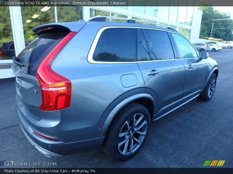 Osmium Grey Metallic / Maroon 2019 Volvo XC90 T6 AWD Momentum