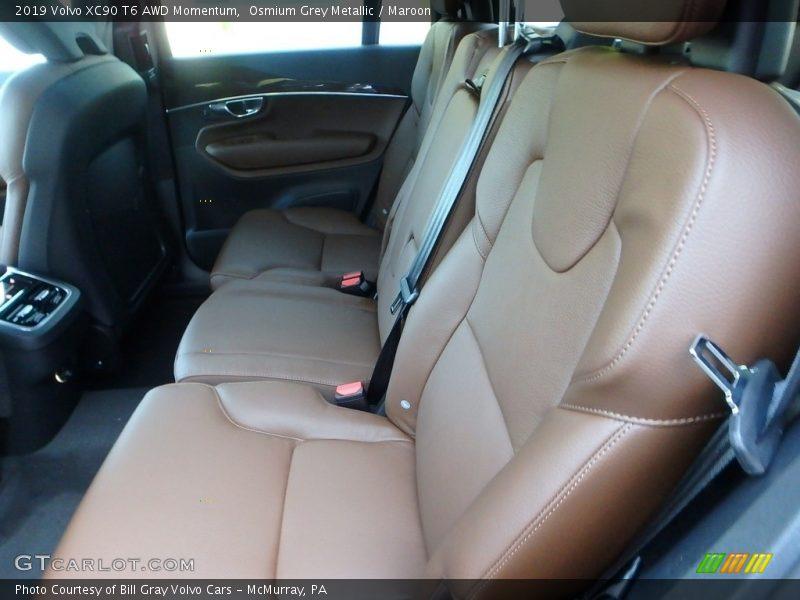 Rear Seat of 2019 XC90 T6 AWD Momentum