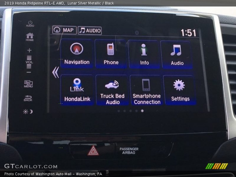 Controls of 2019 Ridgeline RTL-E AWD