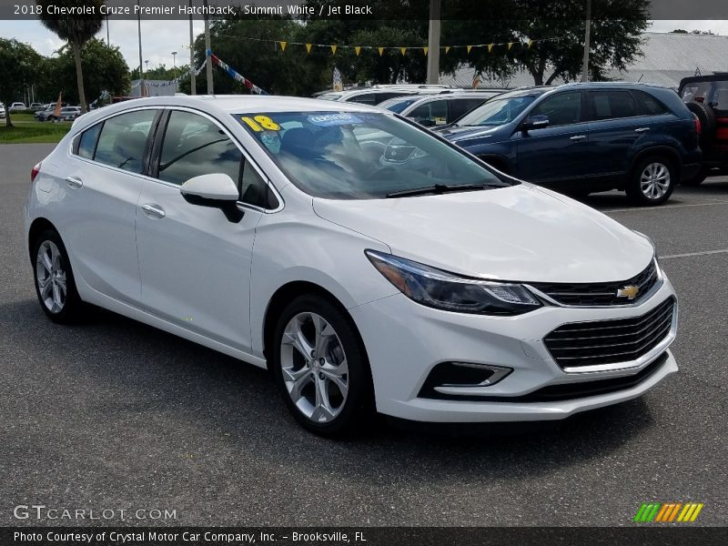Summit White / Jet Black 2018 Chevrolet Cruze Premier Hatchback