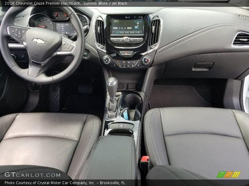 Dashboard of 2018 Cruze Premier Hatchback