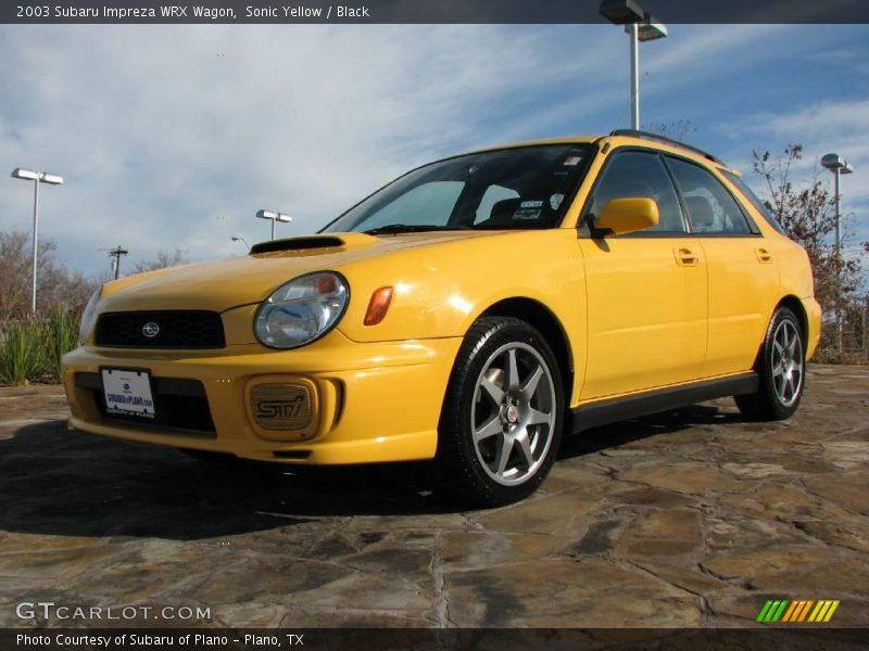 2003 Subaru Impreza WRX Wagon in Sonic Yellow Photo No ...