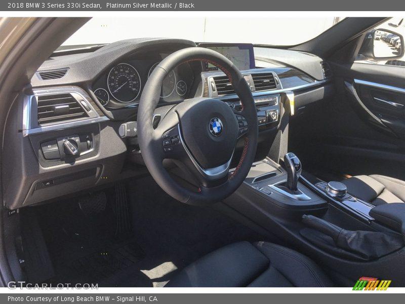 Platinum Silver Metallic / Black 2018 BMW 3 Series 330i Sedan