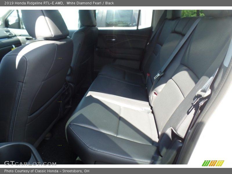 White Diamond Pearl / Black 2019 Honda Ridgeline RTL-E AWD