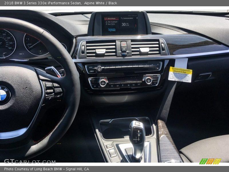 Alpine White / Black 2018 BMW 3 Series 330e iPerformance Sedan