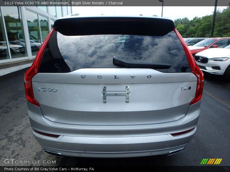 Bright Silver Metallic / Charcoal 2019 Volvo XC90 T6 AWD Momentum