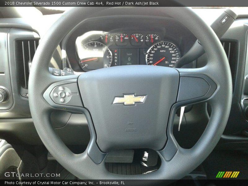 Red Hot / Dark Ash/Jet Black 2018 Chevrolet Silverado 1500 Custom Crew Cab 4x4