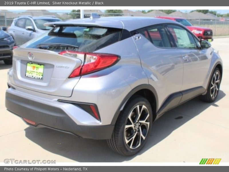 Silver Knockout Metallic / Black 2019 Toyota C-HR Limited