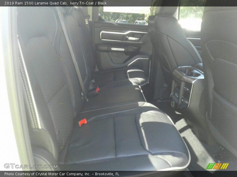 Ivory Tri–Coat / Black 2019 Ram 1500 Laramie Quad Cab