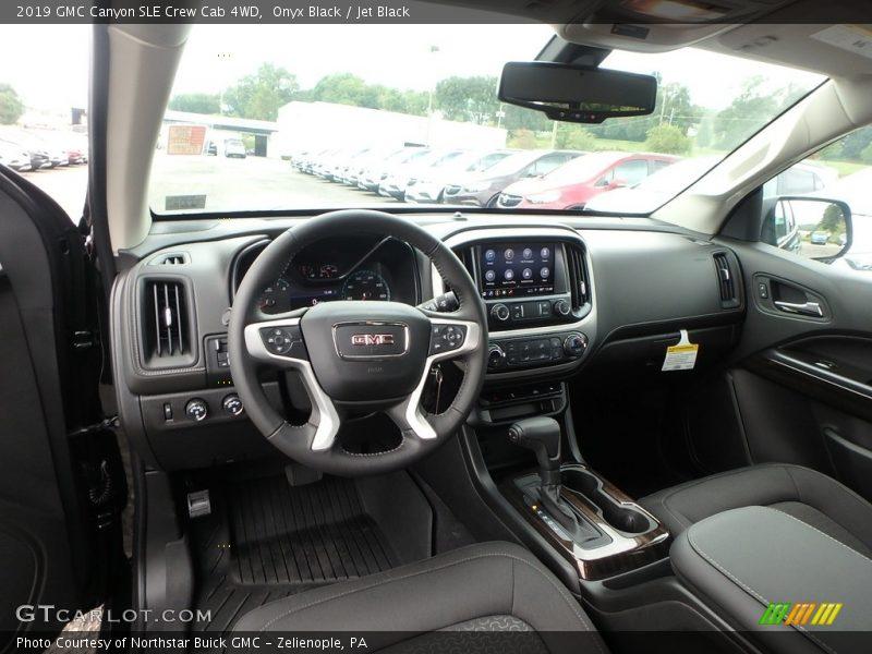 2019 Canyon SLE Crew Cab 4WD Jet Black Interior