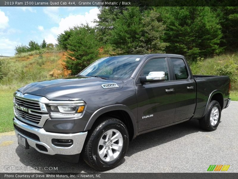 Granite Crystal Metallic / Black 2019 Ram 1500 Laramie Quad Cab 4x4