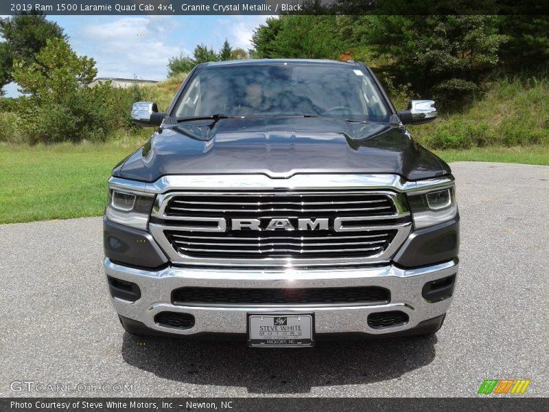 Granite Crystal Metallic / Black 2019 Ram 1500 Laramie Quad Cab 4x4