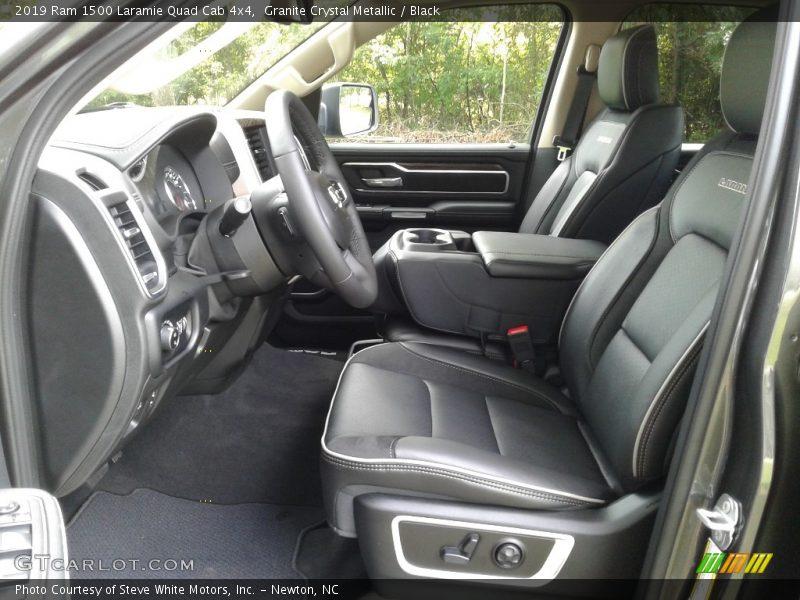 2019 1500 Laramie Quad Cab 4x4 Black Interior