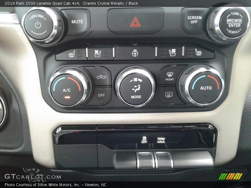Controls of 2019 1500 Laramie Quad Cab 4x4