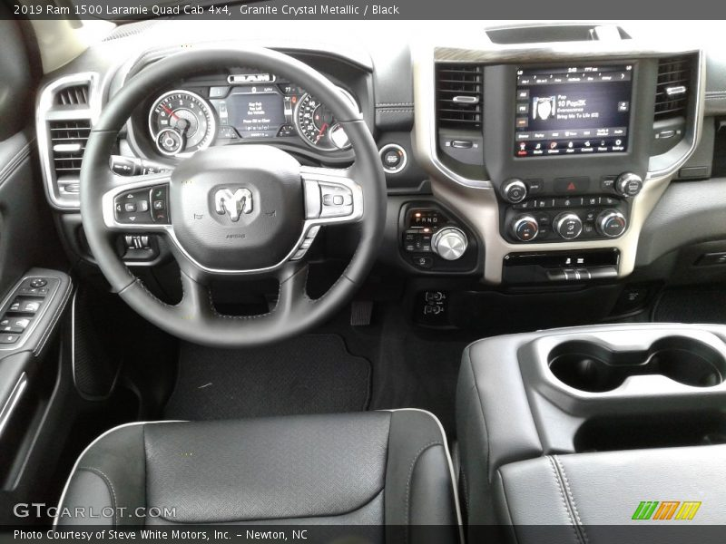 Dashboard of 2019 1500 Laramie Quad Cab 4x4