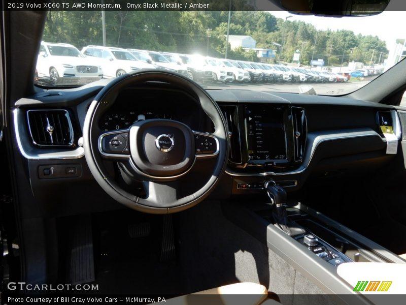 Onyx Black Metallic / Amber 2019 Volvo XC60 T5 AWD Momentum
