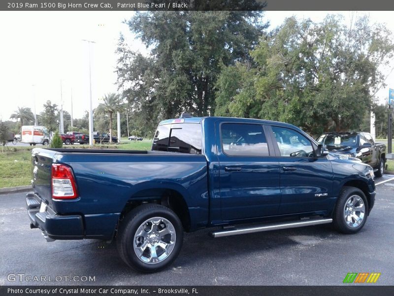 Patriot Blue Pearl / Black 2019 Ram 1500 Big Horn Crew Cab