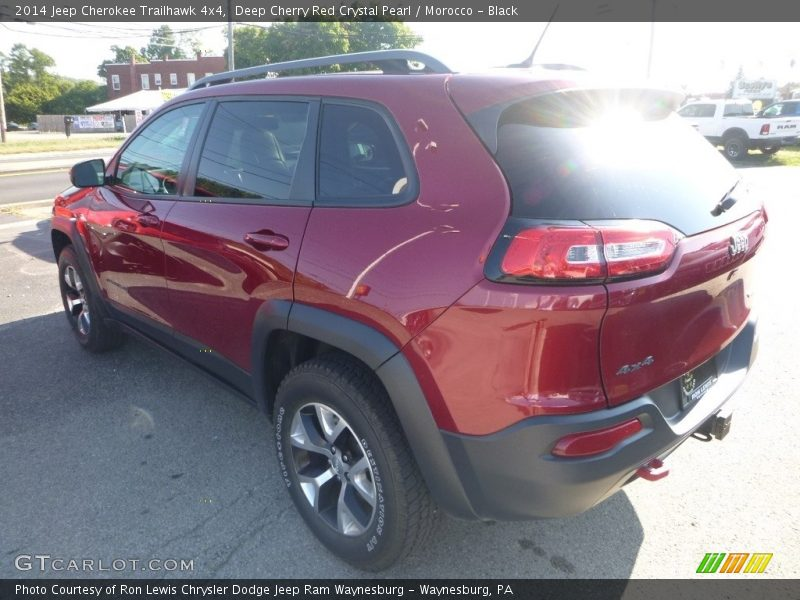 Deep Cherry Red Crystal Pearl / Morocco - Black 2014 Jeep Cherokee Trailhawk 4x4