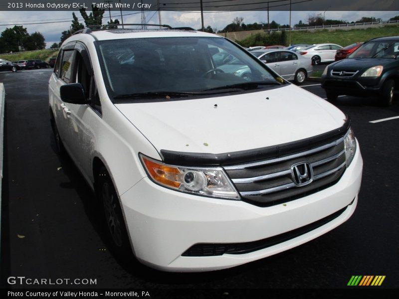 Taffeta White / Gray 2013 Honda Odyssey EX-L