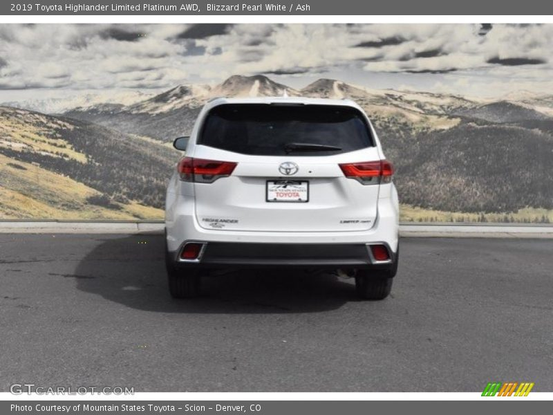Blizzard Pearl White / Ash 2019 Toyota Highlander Limited Platinum AWD