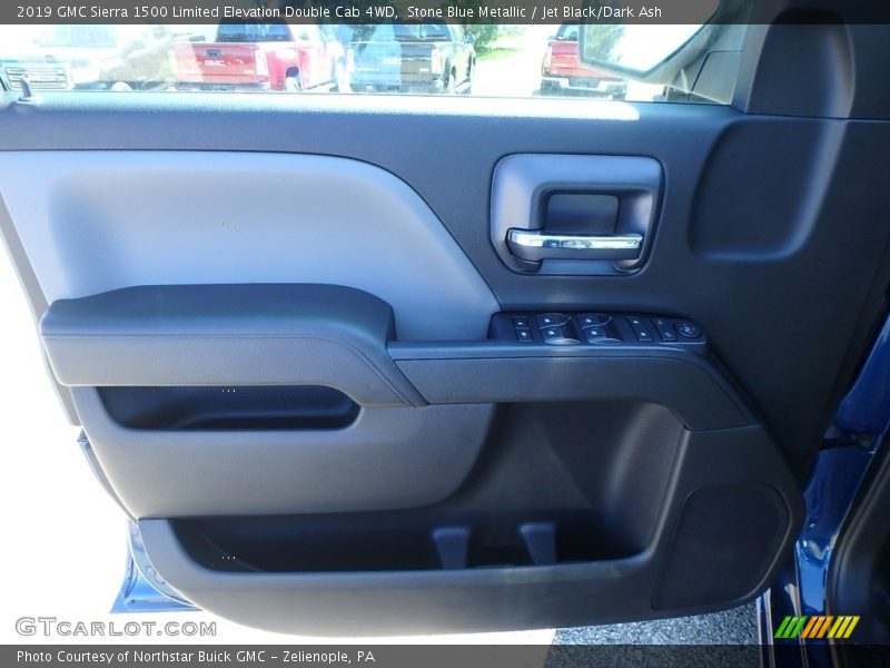Stone Blue Metallic / Jet Black/Dark Ash 2019 GMC Sierra 1500 Limited Elevation Double Cab 4WD