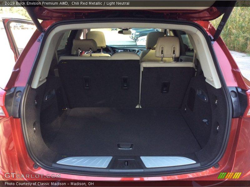 Chili Red Metallic / Light Neutral 2019 Buick Envision Premium AWD