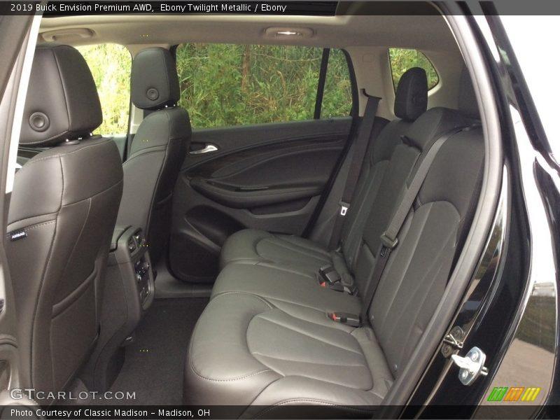 Rear Seat of 2019 Envision Premium AWD