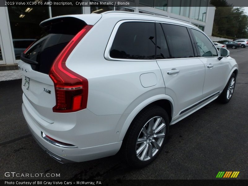 Crystal White Metallic / Blonde 2019 Volvo XC90 T6 AWD Inscription
