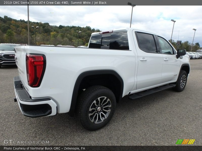Summit White / Jet Black 2019 GMC Sierra 1500 AT4 Crew Cab 4WD