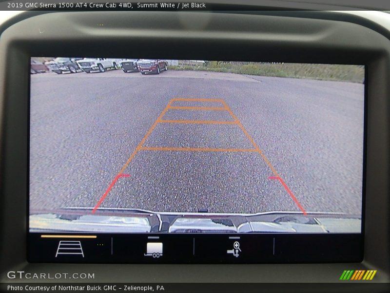 Summit White / Jet Black 2019 GMC Sierra 1500 AT4 Crew Cab 4WD