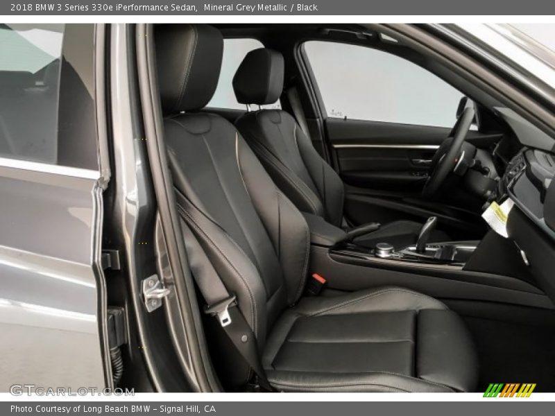 Mineral Grey Metallic / Black 2018 BMW 3 Series 330e iPerformance Sedan